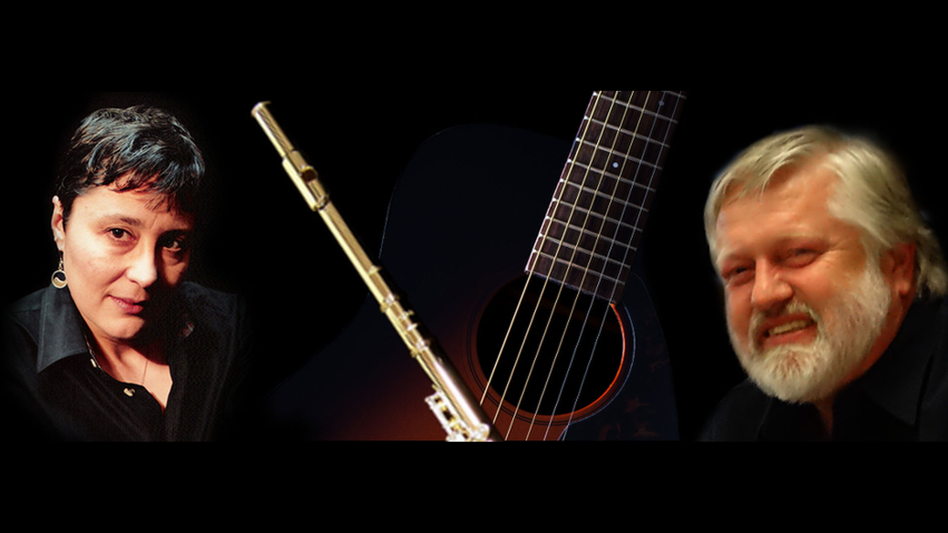 Zentao Music, power-driven flute and acoustic guitar with D. L. Keur and Forrest W. Lineberry, a husband and wife team